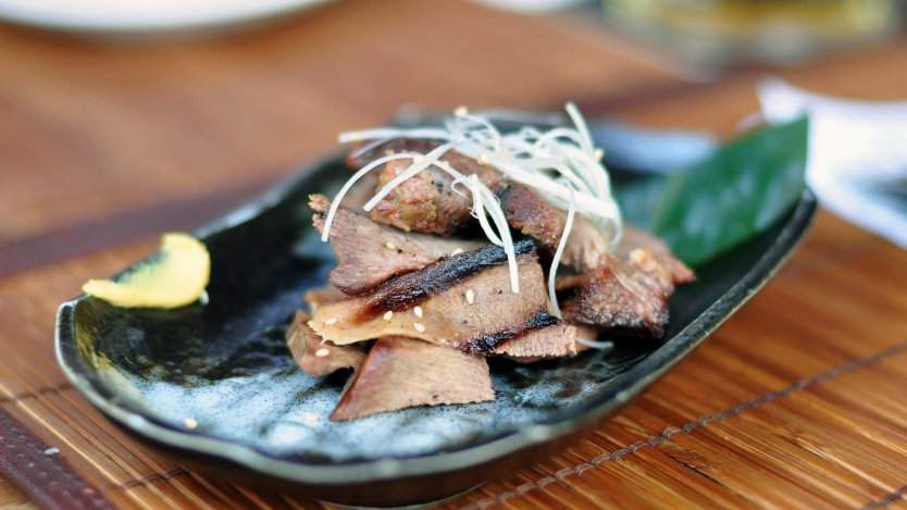 GYU tongue at Guu. Photo by L.Richarz on Flickr.