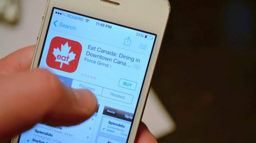 Food apps for Canadians. Photo by Dan Clapson.