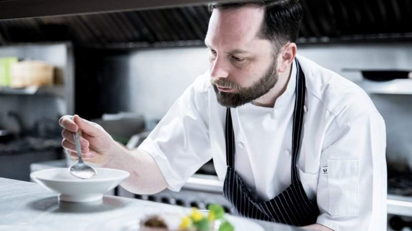 Chef Sam Harris. Photo by Leila Kwok.