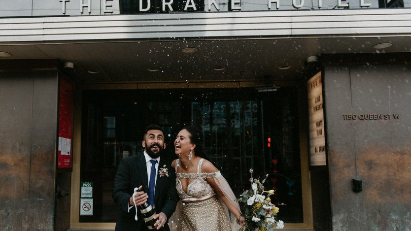 Drake Hotel pop-up wedding chapels. Photo by Scarlett O'Neil.