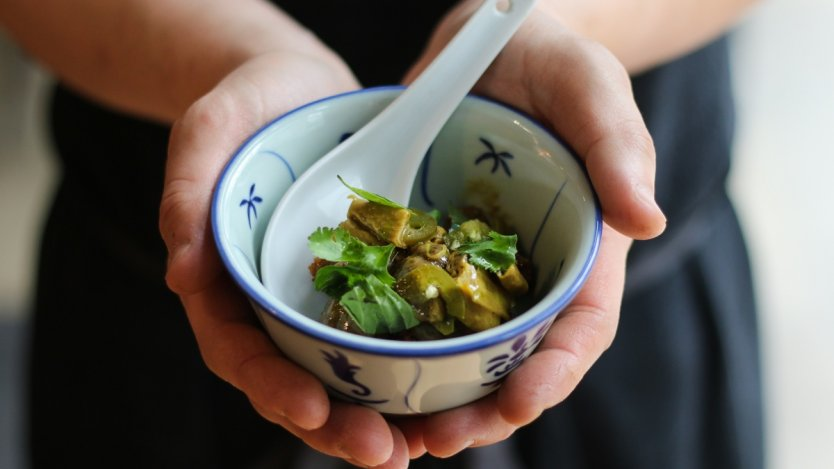 Image for Felix Zhou's Yarrow Meadows duck curry with potato rösti