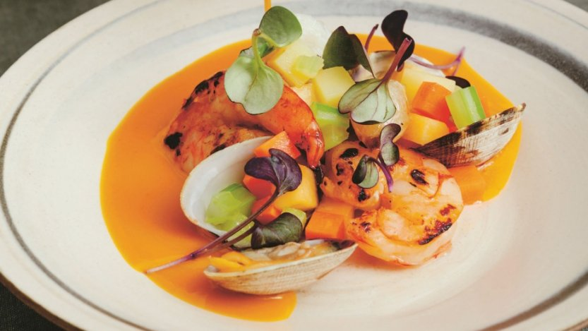Image for Foreign Concept's kuri squash and seafood chowder