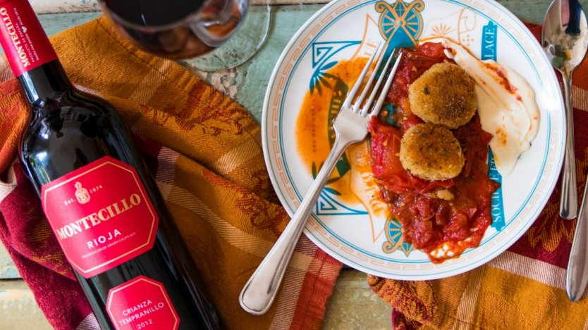 Image for Rioja, bacon and tomato sauce