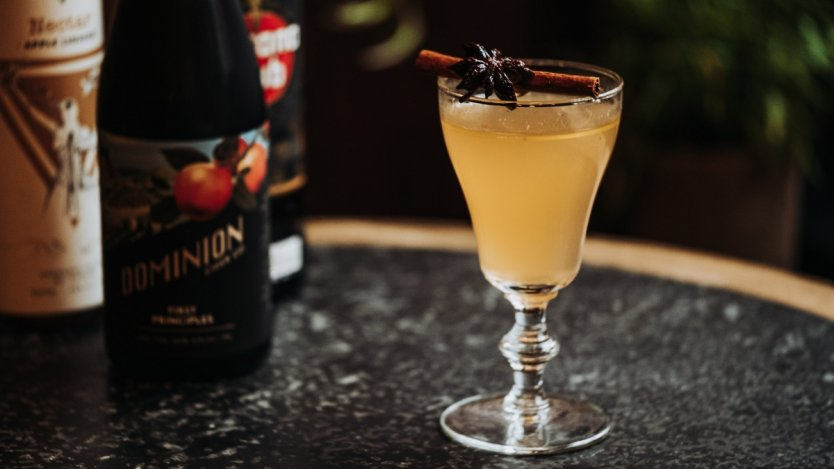 Image for Pourhouse's mulled cider with hot buttered tum