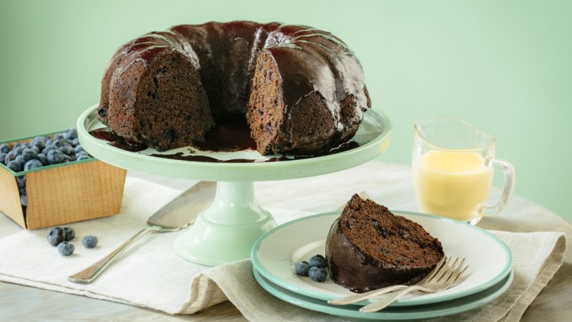Image for Blueberry chocolate stout bundt cake