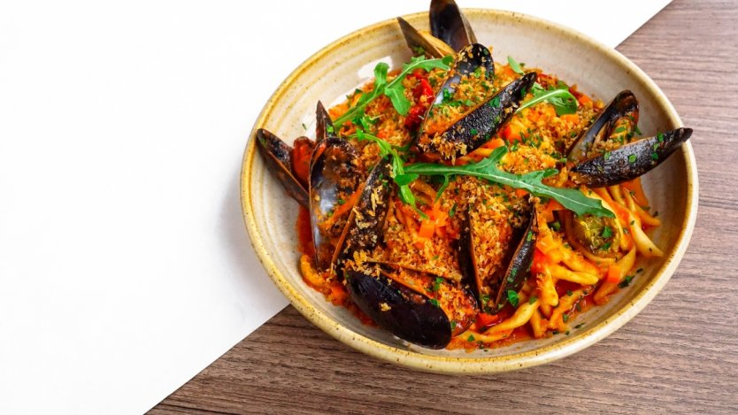 Image for The Salted Vine's strozzapreti with mussels