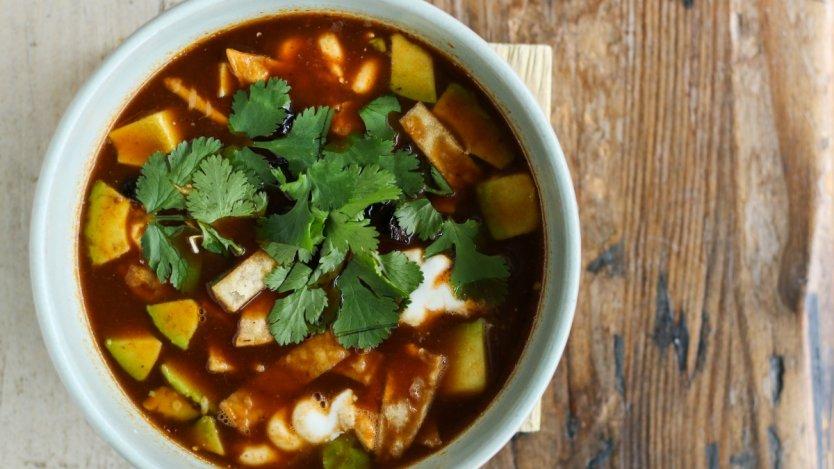 Tacofino torilla soup. Photo by Amy Ho.