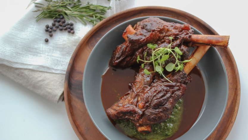 Image for Toben's beer braised lamb shanks