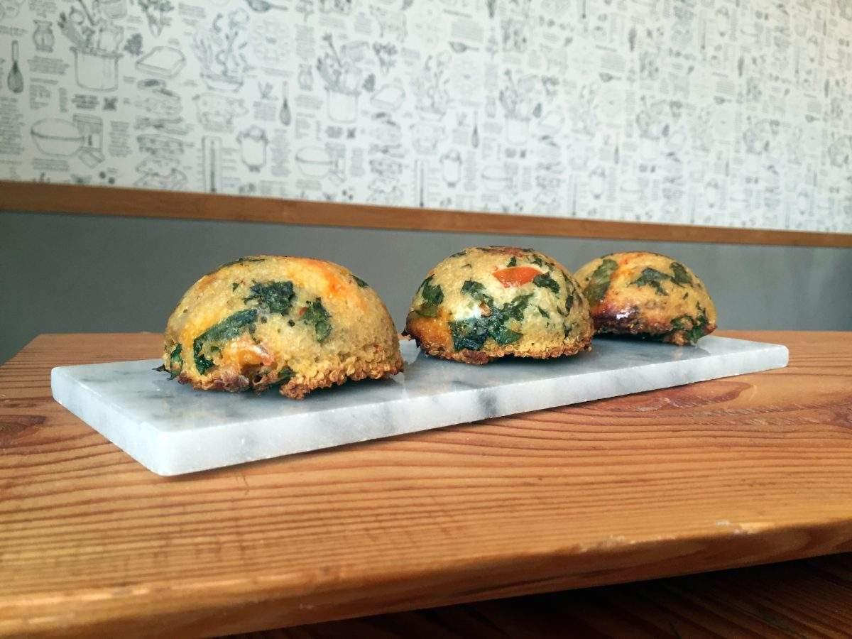 Railtown Cafe's tomato basil quinoa muffins | Eat North