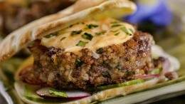 Image for Anna Olson's beef kibbeh sliders with harissa mayo