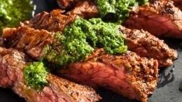 Urban Butcher flank steak with chimichurri