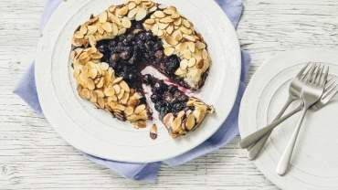 Image for B.C. blueberry galette with almond crust
