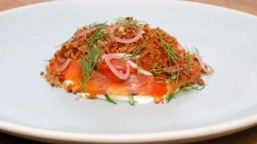 Image for Jamie Harling's gin and juniper cured chinook salmon