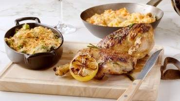 Image for Osteria Savio Volpe's grilled half chicken with rosemary and lemon