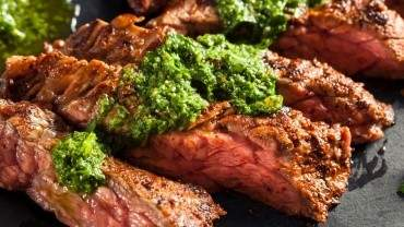 Urban Butcher flank steak with chimichurri