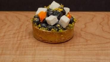 Image for Thomas Haas' blueberry lemon tart with vanilla marshmallow