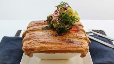 Image for Toben's rabbit pot pie with salad