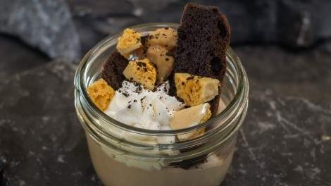Roger Mooking's cracked caramel and brownies. Photo by Nikolai Cuthill.