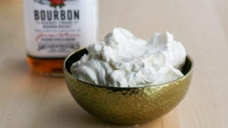 Bourbon whipped cream. Photo by Stephanie Eddy.
