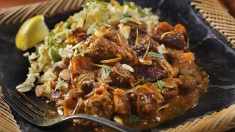 Image for Anna Olson's beef tagine on minted lemon couscous