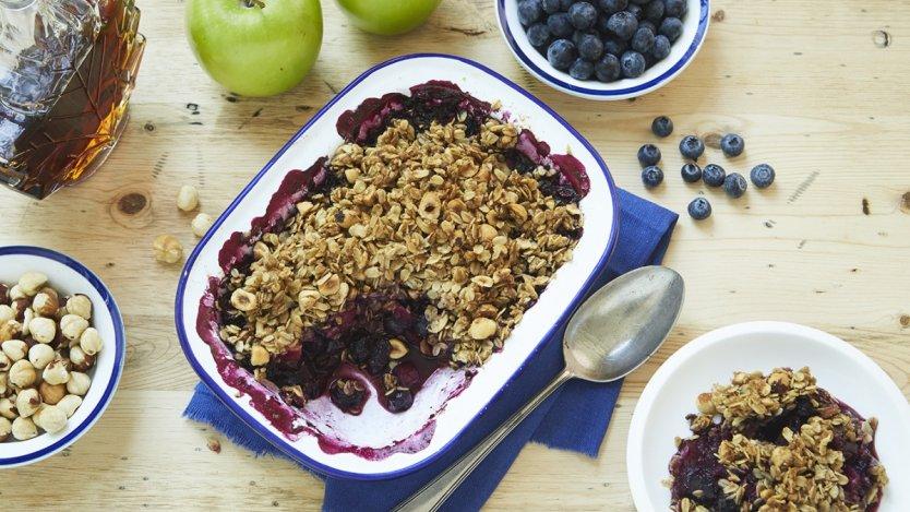 Image for Blueberry apple crisp