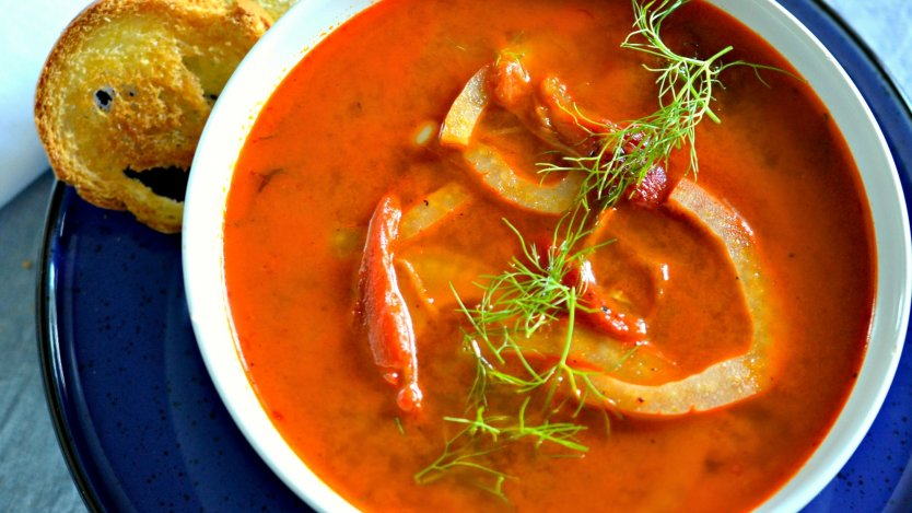 Smoked tomato soup recipe