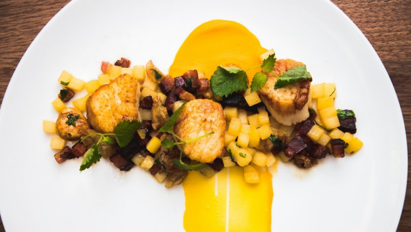 Image for Epic restaurant's scallops with butternut sage puree and chestnut salad