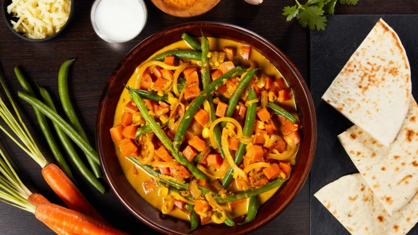Image for Green Beans & Carrots in Coconut-Turmeric Curry