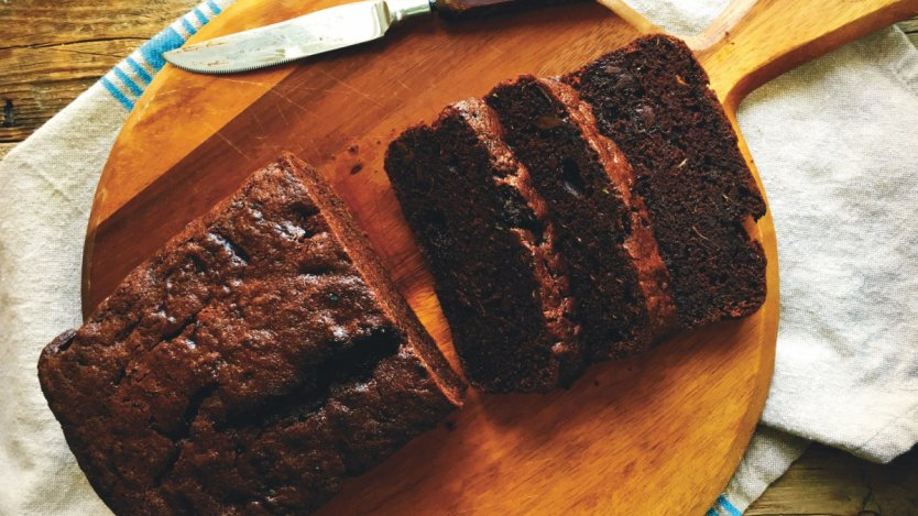 Image for Renee Kohlman's double chocolate zucchini olive oil bread