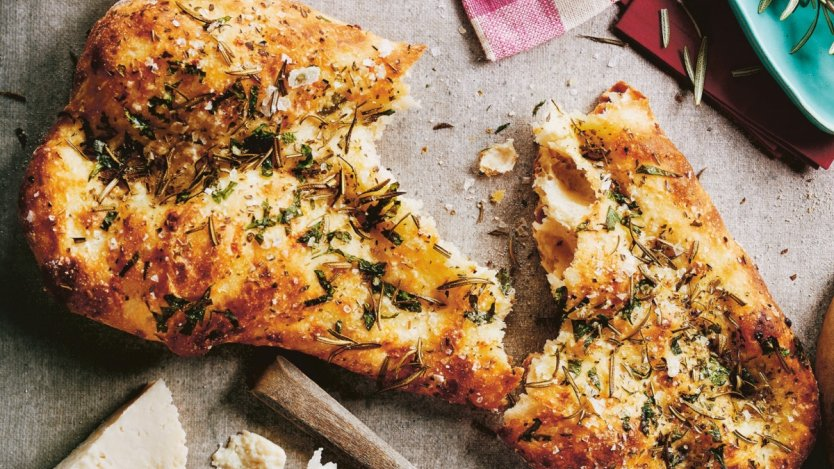 Image for Pecorino Focaccia Bianca from Toronto Eats cookbook